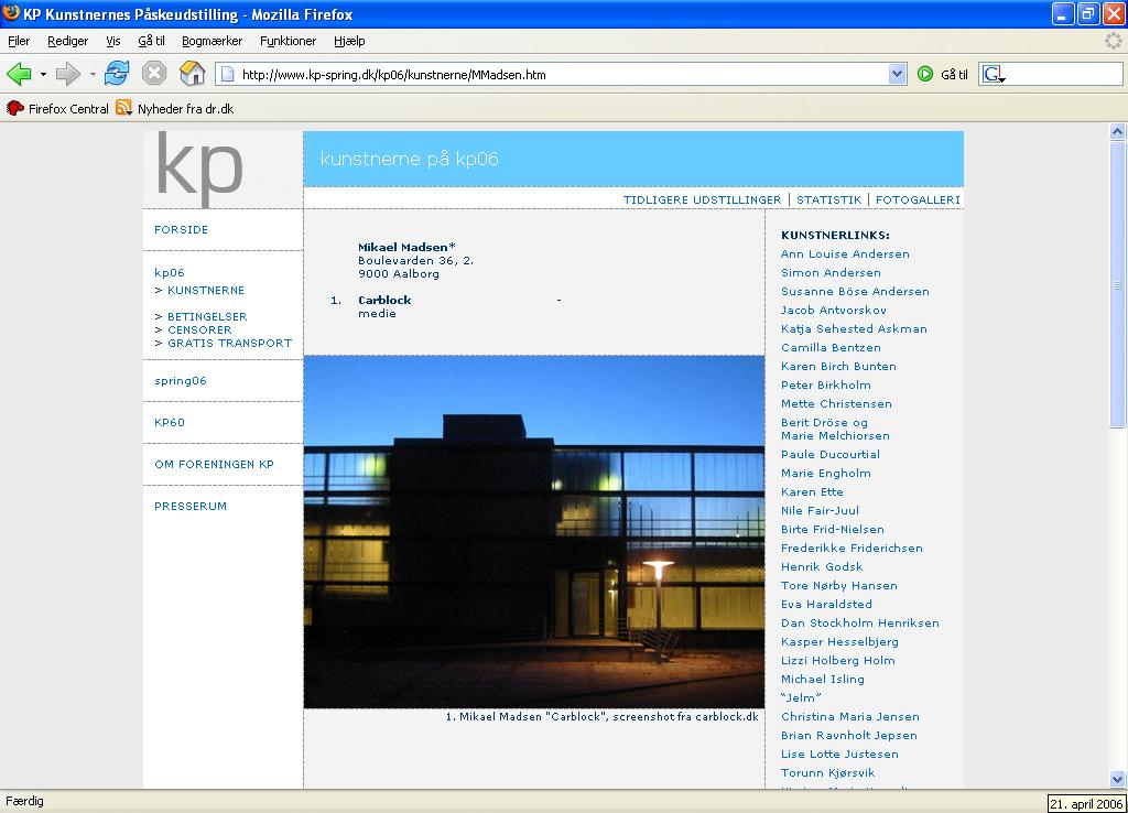Carblock Art Building - kunstnernes påskeudstilling - KP06
